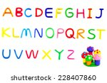 set colorful alphabet made from ... | Shutterstock . vector #228407860