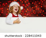 a portrait of a laughing sweet... | Shutterstock . vector #228411043