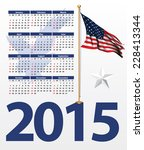 usa theme calendar for the 2015 | Shutterstock .eps vector #228413344