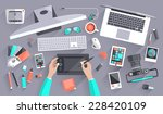 flat design vector illustration ... | Shutterstock .eps vector #228420109