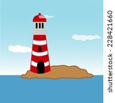 lighthouse in the mountains... | Shutterstock .eps vector #228421660