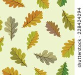 background with oak leaves | Shutterstock .eps vector #228424294