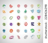 unusual spiral set   isolated... | Shutterstock .eps vector #228426298