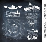 vintage new year background.... | Shutterstock .eps vector #228427540