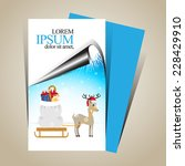 christmas brochure modern cover ... | Shutterstock .eps vector #228429910