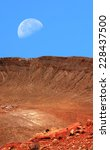 Meteor Crater In Arizona With...