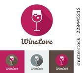 vector modern flat wine shop ... | Shutterstock .eps vector #228445213