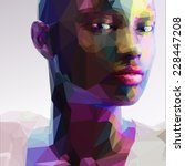 Low Poly Abstract Portrait Of ...