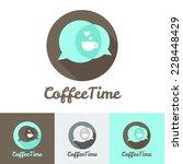 vector modern flat coffee shop  ... | Shutterstock .eps vector #228448429