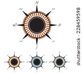 decorative vector compass rose... | Shutterstock .eps vector #228459598