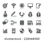 business and communication icons | Shutterstock .eps vector #228468400