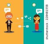 chatting | Shutterstock .eps vector #228481558