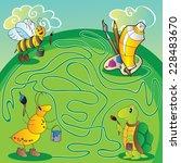 maze for children   help the... | Shutterstock .eps vector #228483670