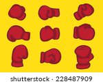 vector illustration of red... | Shutterstock .eps vector #228487909