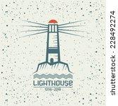 Lighthouse Emblem In Geometric...