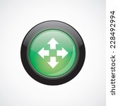 move glass sign icon green...