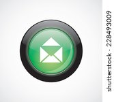 mail glass sign icon green...