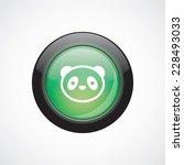 panda glass sign icon green...