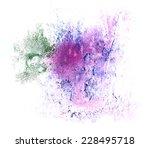 art watercolor green  blue ink...   Shutterstock . vector #228495718