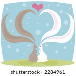 bunnies in love   their long... | Shutterstock . vector #2284961