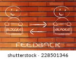 feedback or message exchange... | Shutterstock . vector #228501346