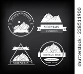 set of expedition badges.... | Shutterstock .eps vector #228511900