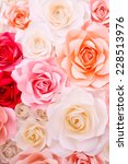 colorful flowers paper... | Shutterstock . vector #228513976