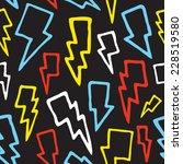 """thunderbolts"" seamless vector... | Shutterstock .eps vector #228519580"