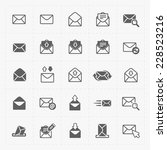 email and envelope icons on... | Shutterstock .eps vector #228523216