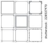 set of nice decorative frames... | Shutterstock .eps vector #228537970