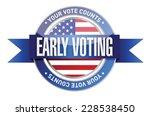 early voting seal illustration...   Shutterstock .eps vector #228538450