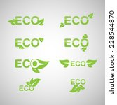 ecology icon set. eco icons. | Shutterstock .eps vector #228544870