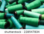 Colorful Threads In Green Tone