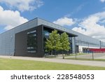 modern grey warehouse in the... | Shutterstock . vector #228548053