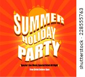 vector of summer holiday party... | Shutterstock .eps vector #228555763