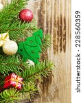 fir tree with christmas tree... | Shutterstock . vector #228560359