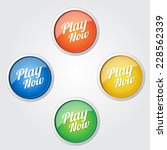 play now colorful vector icon... | Shutterstock .eps vector #228562339