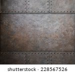 Rust Metal Texture With Rivets...