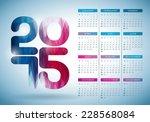 vector calendar 2015... | Shutterstock .eps vector #228568084