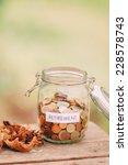money jar full of coins as a... | Shutterstock . vector #228578743
