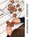 Little Boy Painting Gingerbrea...