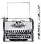 70s  manual typewriter vintage... | Shutterstock . vector #228587224