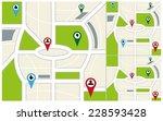 map navigation | Shutterstock .eps vector #228593428