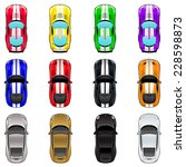 set of three cars in four... | Shutterstock .eps vector #228598873