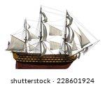 3d Digital Render Of A Sailing...