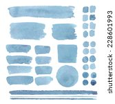 set of watercolor elements ... | Shutterstock .eps vector #228601993