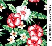 tropic summer floral hibiscus...   Shutterstock .eps vector #228604168