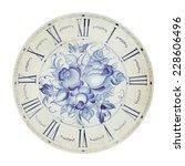 vintage flower clock...   Shutterstock . vector #228606496