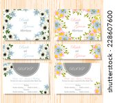 wedding invitation cards with... | Shutterstock .eps vector #228607600