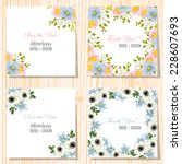 wedding invitation cards with... | Shutterstock .eps vector #228607693